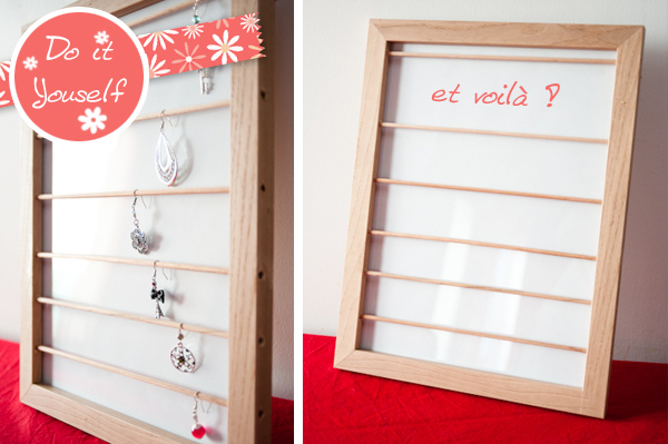 do it yourself un porte boucles d oreilles petit bazar de fille. Black Bedroom Furniture Sets. Home Design Ideas