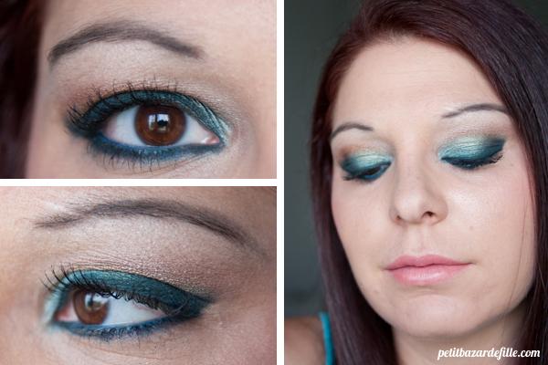 maquillage libanais bleu turquoise. Black Bedroom Furniture Sets. Home Design Ideas