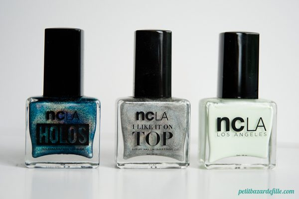 NCLA x Pshiiit Teal The End, NCLA I Like It On Top Shimmer Me Pretty, NCLA AM: Beauty Sleep, PM: Shopping Spree
