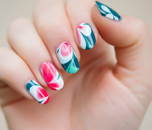 [Nailart] WaterMarble WaterMelon